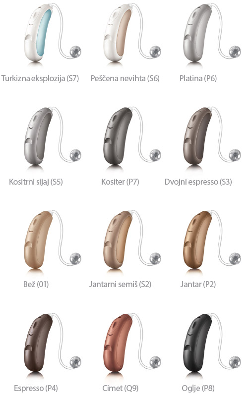 Barve slušnih aparatov