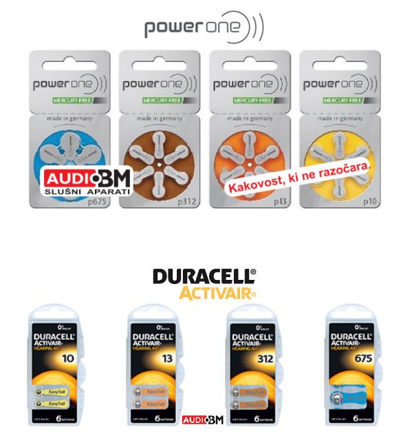 Baterije za polževe vsadke