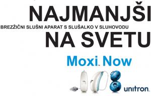 Moxi Now - Najmanjsi brezžični slušni aparat s slušalko v sluhovodu