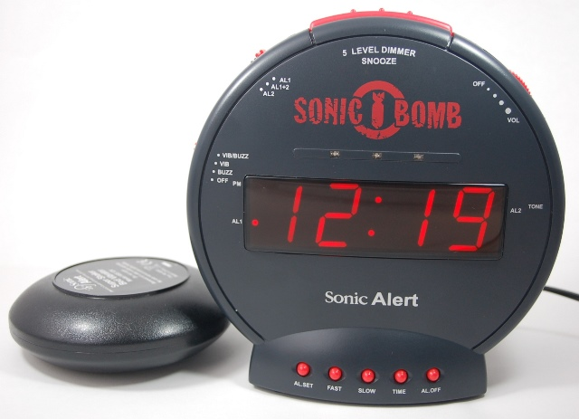 Budilka Sonic z zvočnim indikatorjem