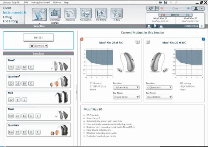 Program za prilagajanje slušnih aparatov TrueFit