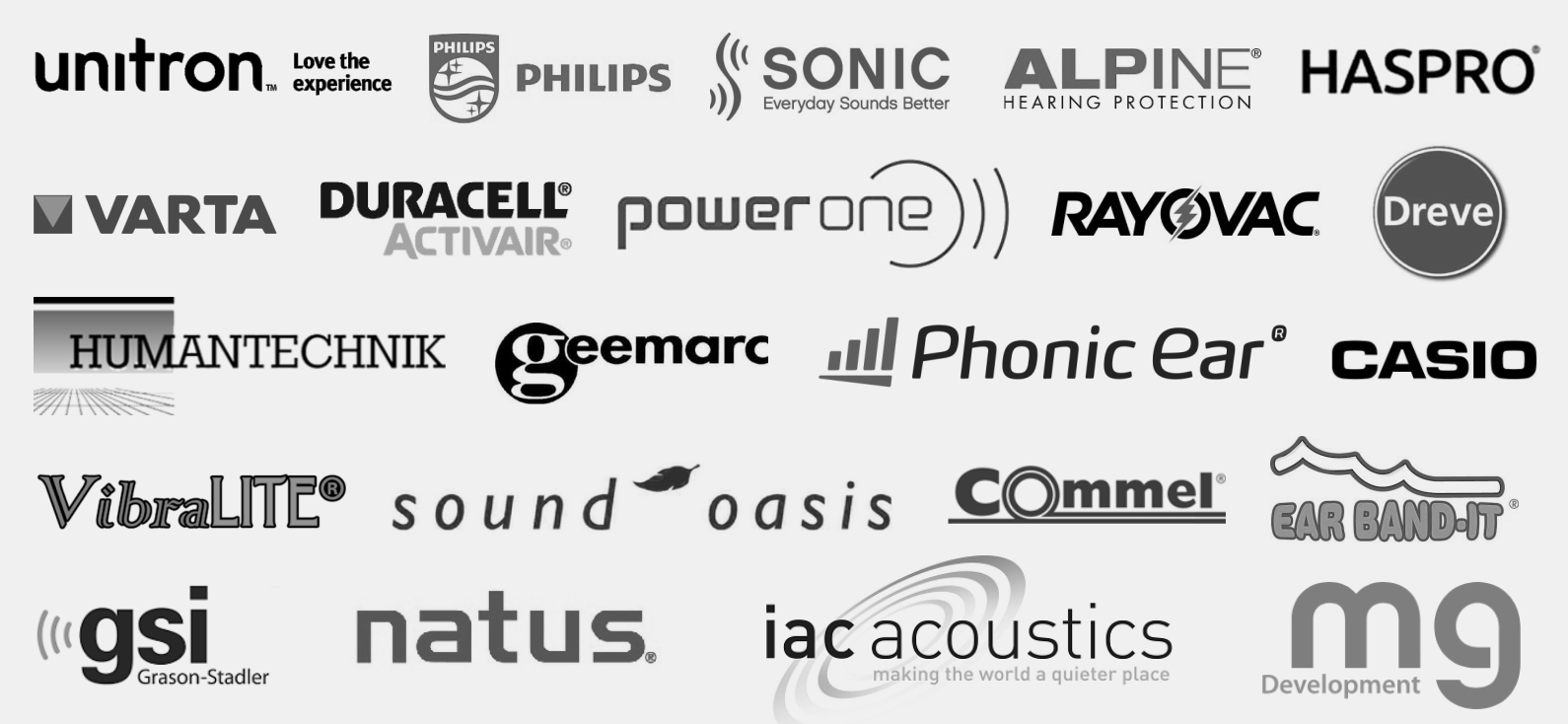 Blagovne-znamke-Unitron-Philips-Sonic-Varta-Duracell-RAyovac-Alpine-in-druge-AUDIO-BM-slusni-aparati-centri