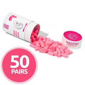 Cepki-za-usesa-iz-pene-Zascita-sluha-HASPRO-pink-AUDIO-BM-slusni-aparati-50-parov-komplet